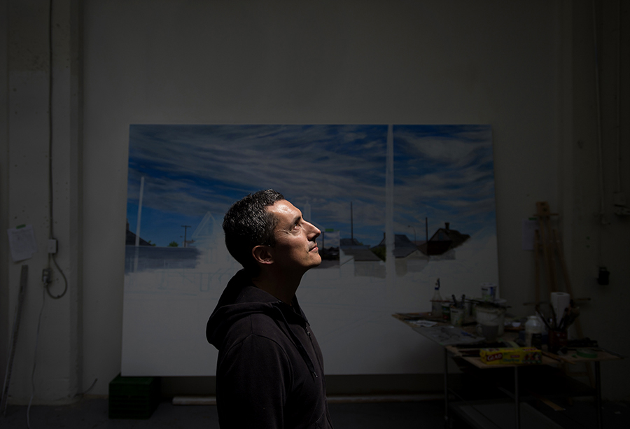 Metis-Cree artist Kent Monkman poses in his studio in Toronto.